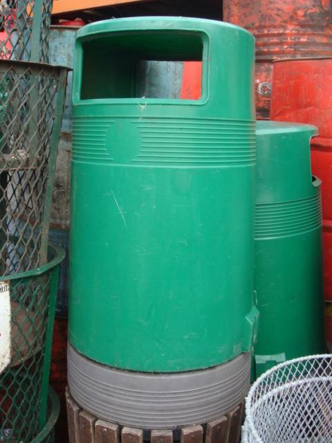 Street Bins various - street bin – green