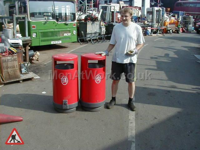Street Bins various - street bins – red (2)