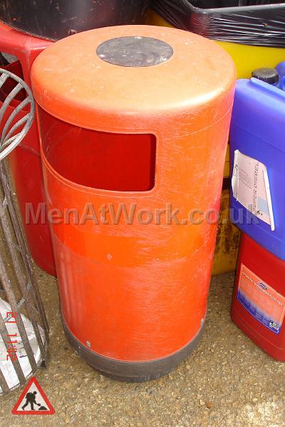 Street Bins various - street bins – red
