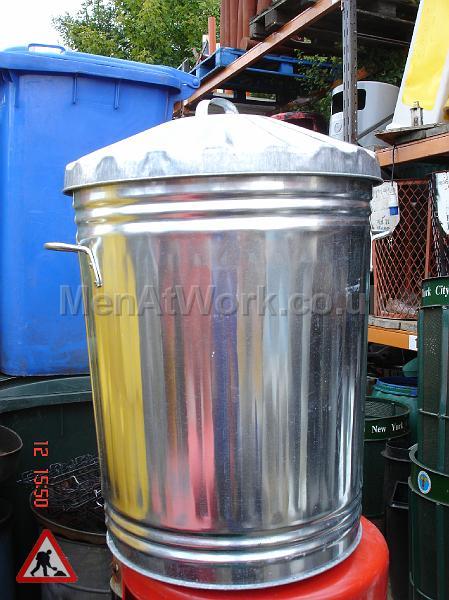 Metal Trash Can - trash can