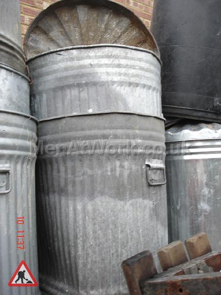 Metal Trash Can - trashcans