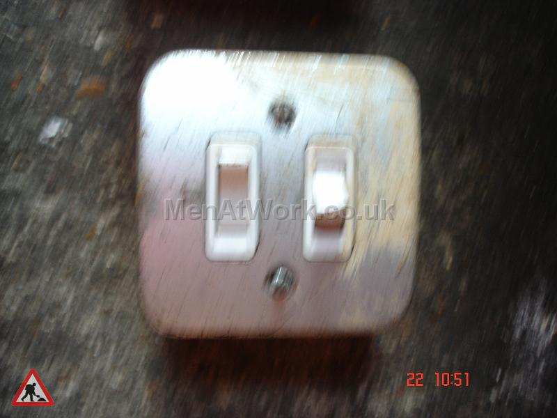 Men At Work Twin Industrial Light Switch