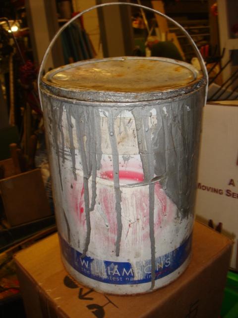 Used Paint Tins - used paint pots (2)