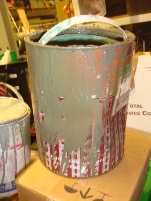 Used Paint Tins - used paint pots (3)
