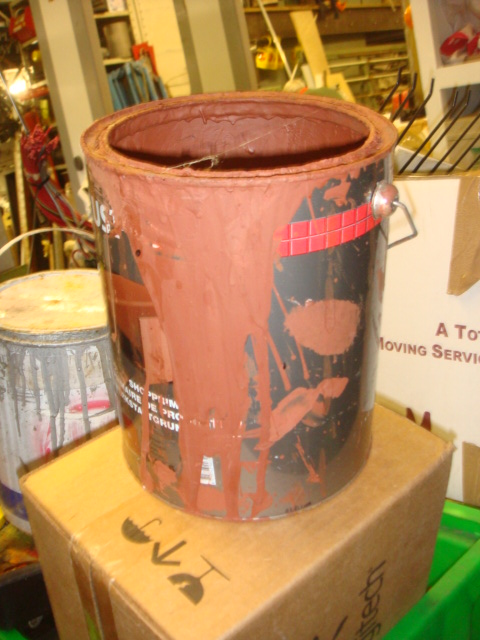Used Paint Tins - used paint pots (4)