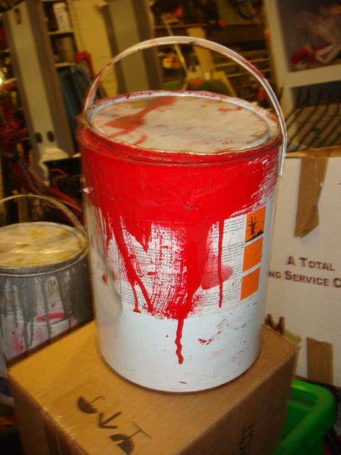 Used Paint Tins - used paint pots (5)