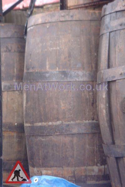 Wooden Barrels - Close up