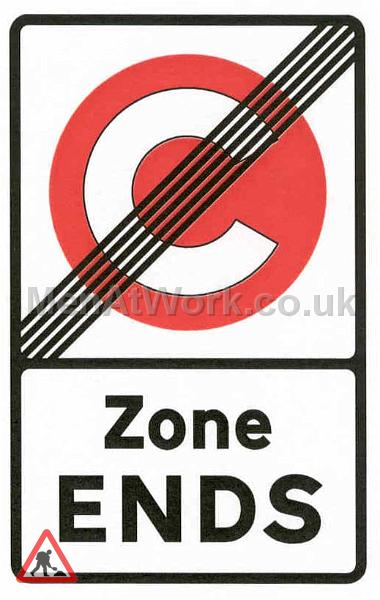 Congestion Charge Road Signs - zone_ends_sign