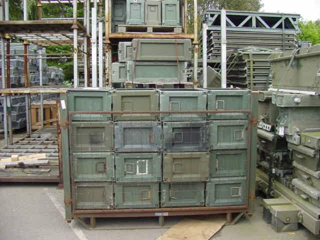 Ammunition Boxes - 13ins w 21ins h 34ins long
