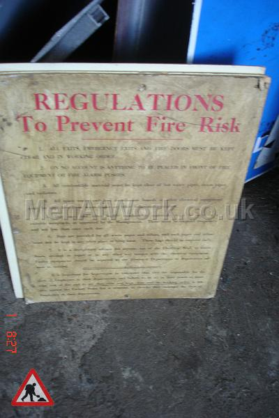 Period 1970's Health and Safety Signs - 1970s Health and Safety Signs (6)