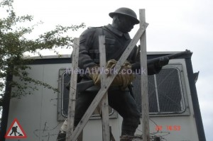 Soldier Statue - 7′ 6 high 8′ 3 long