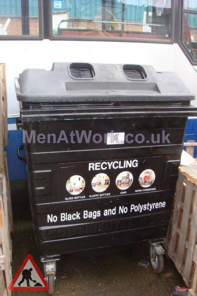 Black Recycling Bins - Black Recycling Bins (2)