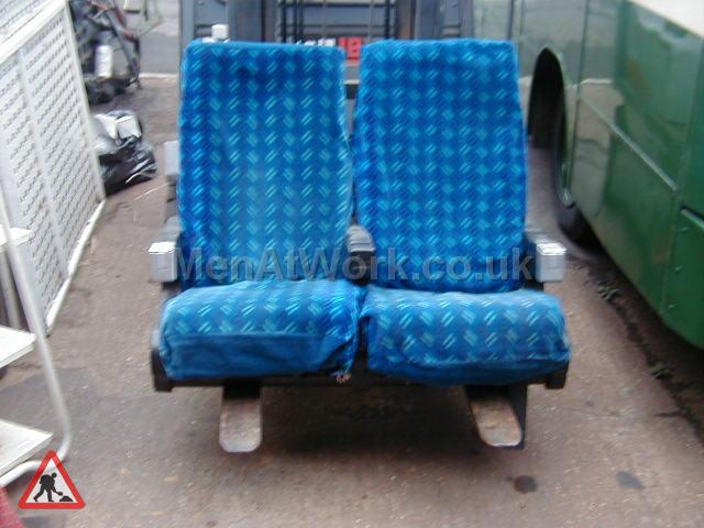 Train Seats – Blue - Blue Covered Seats (2)