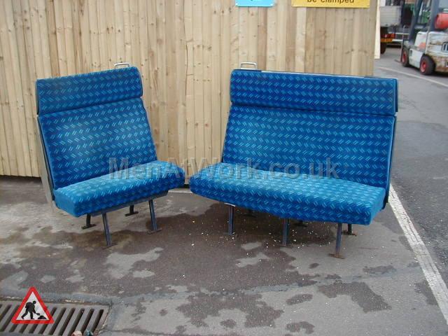 Train Seats – Blue - Blue Covered Seats