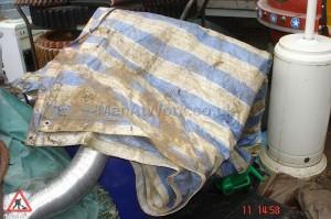 Blue and white Tarpaulin - Blue and white tarpaulin