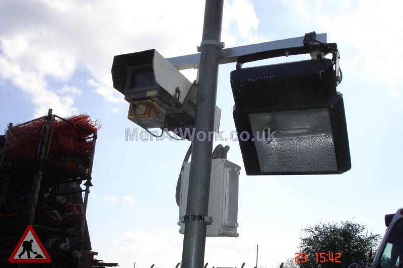 Security Light and Camera example - Camera and Lighting On Plain Pole