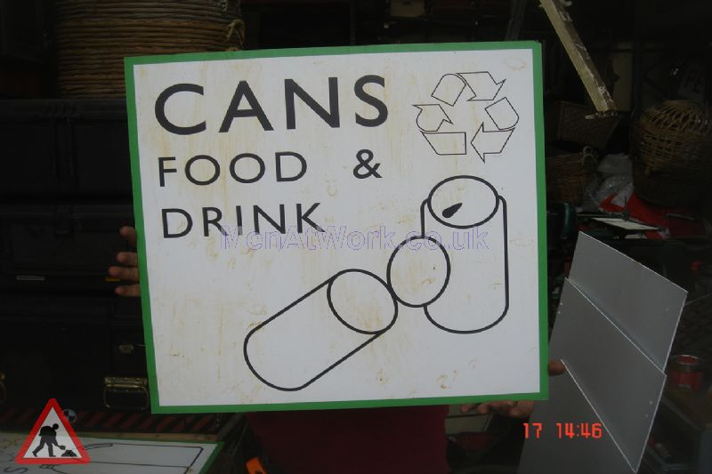 Recycling Centre Signs - Cans food and drink