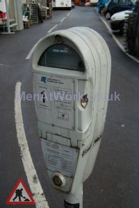 Car Parking Meter – White - Car Parking Meter – White (3)