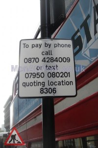 Car Parking Ticket Sign - Car Parking Ticket Sign