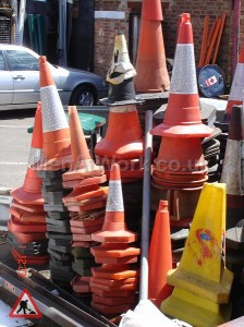 Traffic cones - Cone array