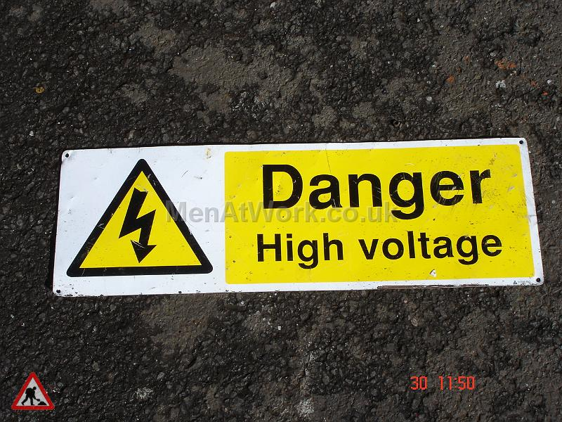 Danger High Voltage Sign - Danger High Voltage Signs (2)