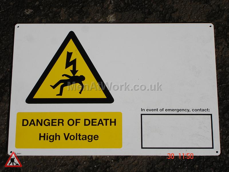 Danger High Voltage Sign - Danger High Voltage Signs (3)