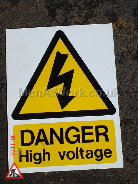 Danger High Voltage Sign - Danger High Voltage Signs