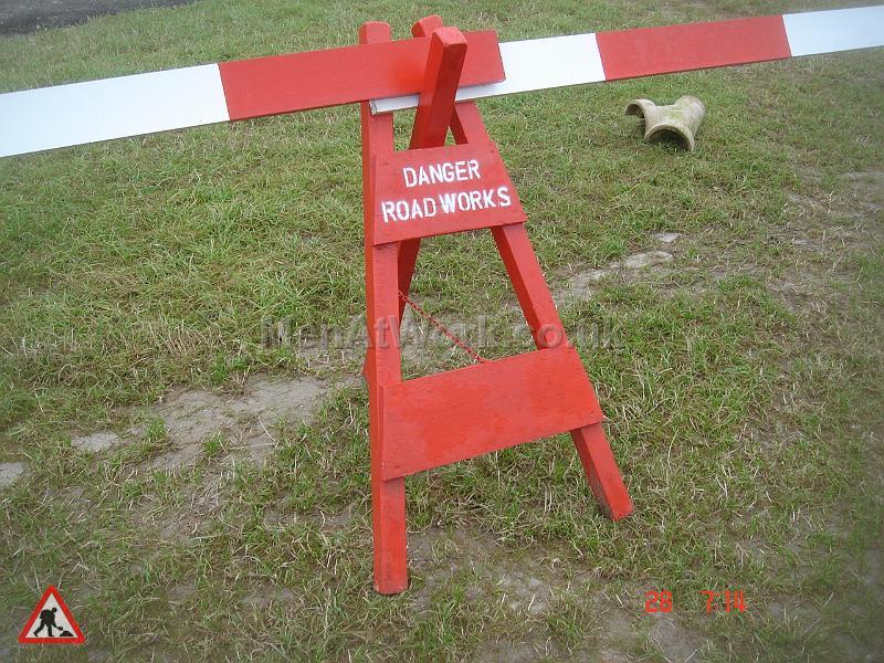 Period roadworks barriers - Danger-roadworks A frame