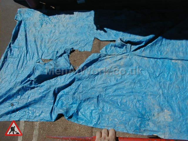 Distressed Blue Tarpaulin - Distressed Tarp 1