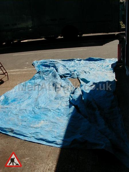 Distressed Blue Tarpaulin - Distressed Tarp 2