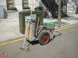 1940's Style Road Sweeper - Early Style Cart 1940's