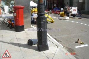 Fake Wrap Around Lamp Post Base - False Wrap Around Base