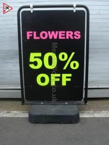 Flower A Frame Sign - Flower A Frame