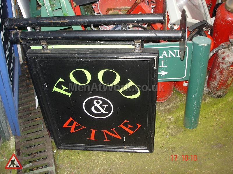 Food & Wine Sign - Food & Wine Sign