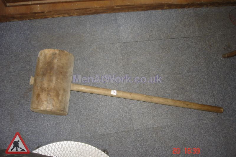 Large timber mallet - Large Timber Mallet