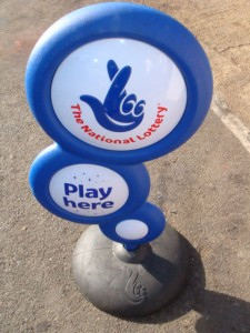 National Lottery Sign / Stand - Lotto Sign (2)