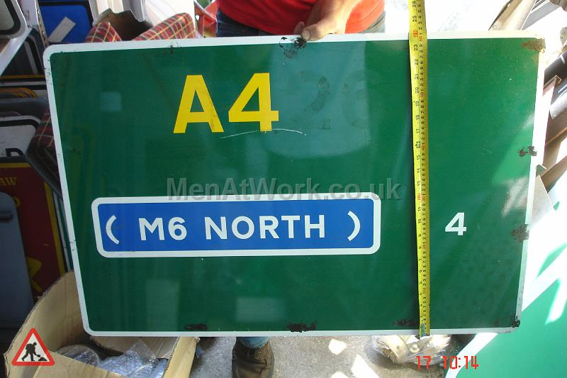 Men At Work Motorway Signs