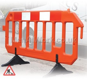 Moulded Road Works Barrier - Moulded Barrier
