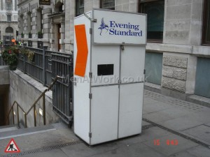 Evening Standard News paper Stand - Newspaper Stall Front