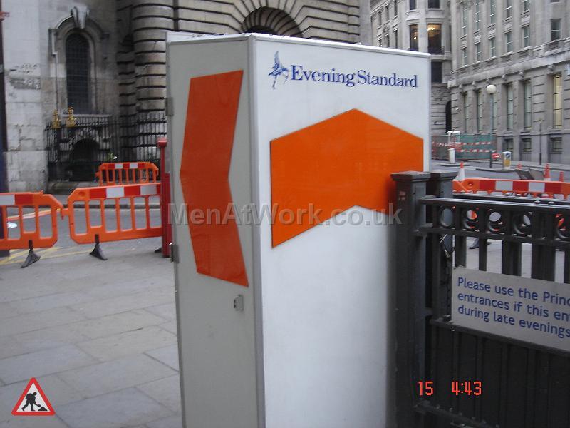 Evening Standard News paper Stand - Newspaper Stall