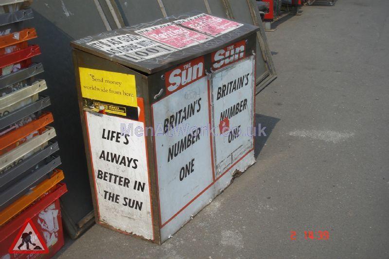 Newspaper Storage Box - Newspaper storage box