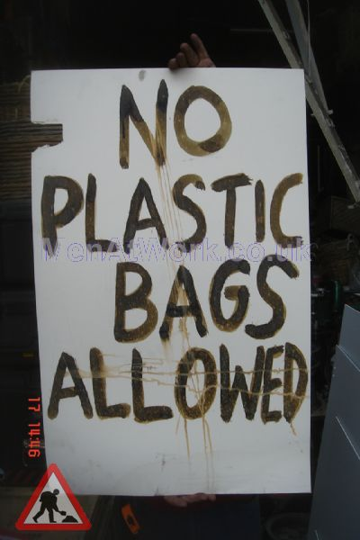 No Plastic Bags - No Plastic Bags Allowed