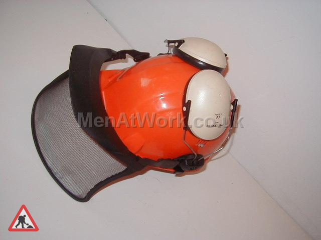 Helmet with visor - Orange Hemet