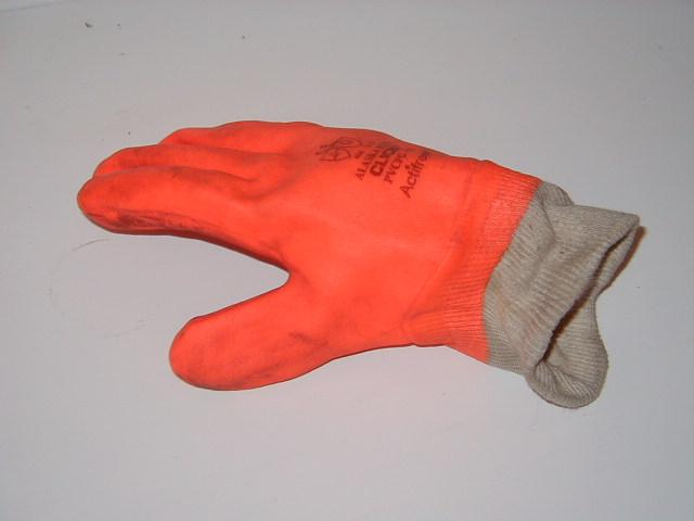 Gloves - Orange PVC gloves