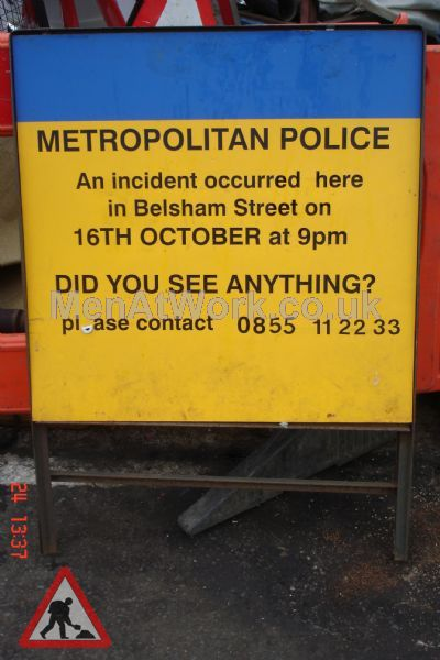Police Incident Signs - POLICE INCIDENT SIGN 1