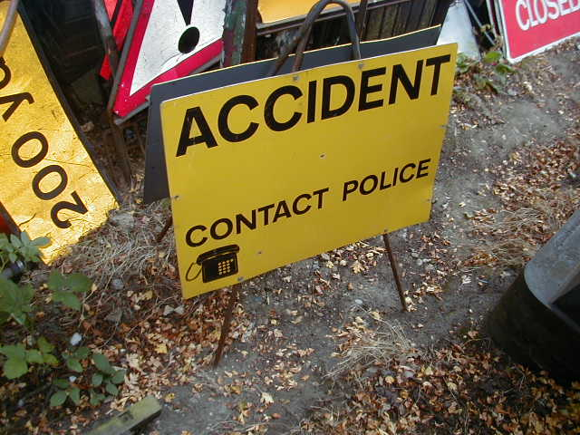 Police Accident Sign – Can you help - POLICE INCIDENT SIGN 2A