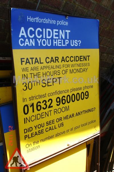 Police Incident Signs - POLICE INCIDENT SIGN 3A