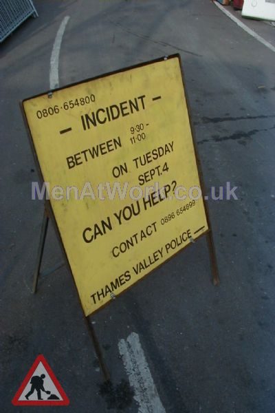 Police Accident Sign – Can you help - POLICE INCIDENT SIGN 4