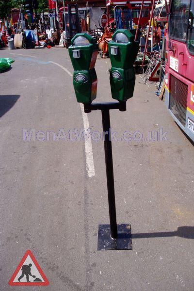 Twin Parking Meters - Parking meter green 2b