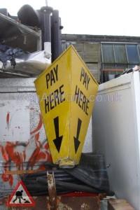 Pay Here Lamp Post Wrap - Pay Here Lamp Post wrap